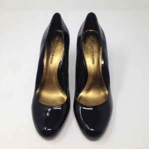 Arturo Chiang Black Leather Upper Slip-On 7.5 M